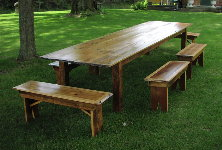 Table Bench - matching pine