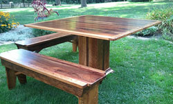 Custom Benches - dining table bench