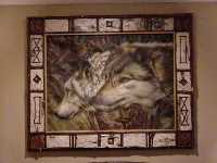 Custom Picture Frame - Wolf Art Print