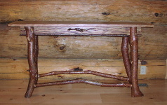 Adirondack Designs - Sofa Table Of Cherry and Walnut