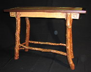 Custom Rustic Furniture - Sofa Table With Antique Walnut and Red Cedar Legs