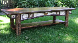 Adirondack Style Coffee Table