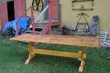 Custom Trestle Table - 8 Foot Long Antique Pine