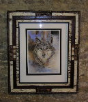 Custom Picture Frame - Framed Timberwolf Print